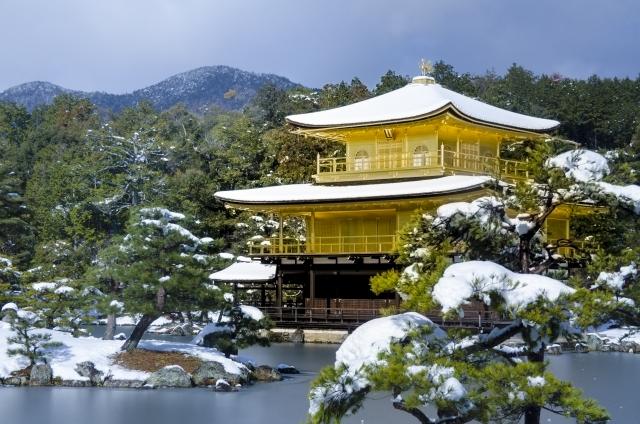 金閣寺 雪景色