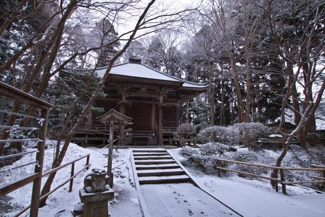 中尊寺 雪景色